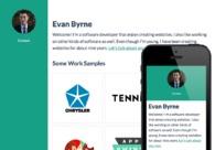 A great web design by Evan Byrne, Detroit, MI: Responsive Website, Portfolio