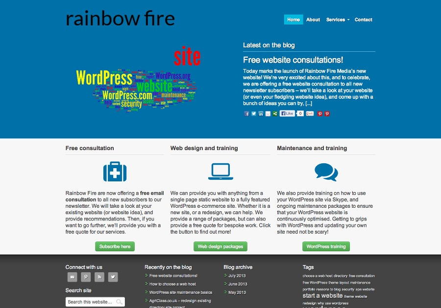 A great web design by Rainbow Fire Media, Leeds, United Kingdom: