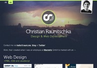 A great web design by Christian Raunitschka, Berlin, Germany: