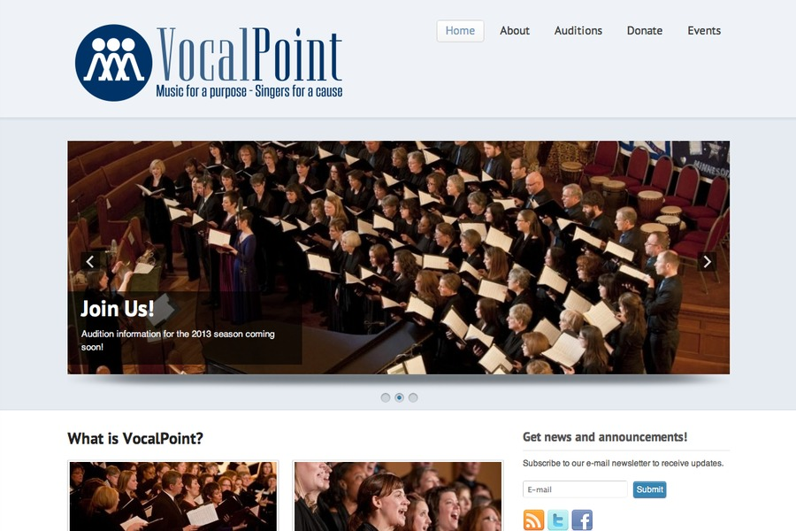A great web design by Exponentech, Minneapolis, MN: