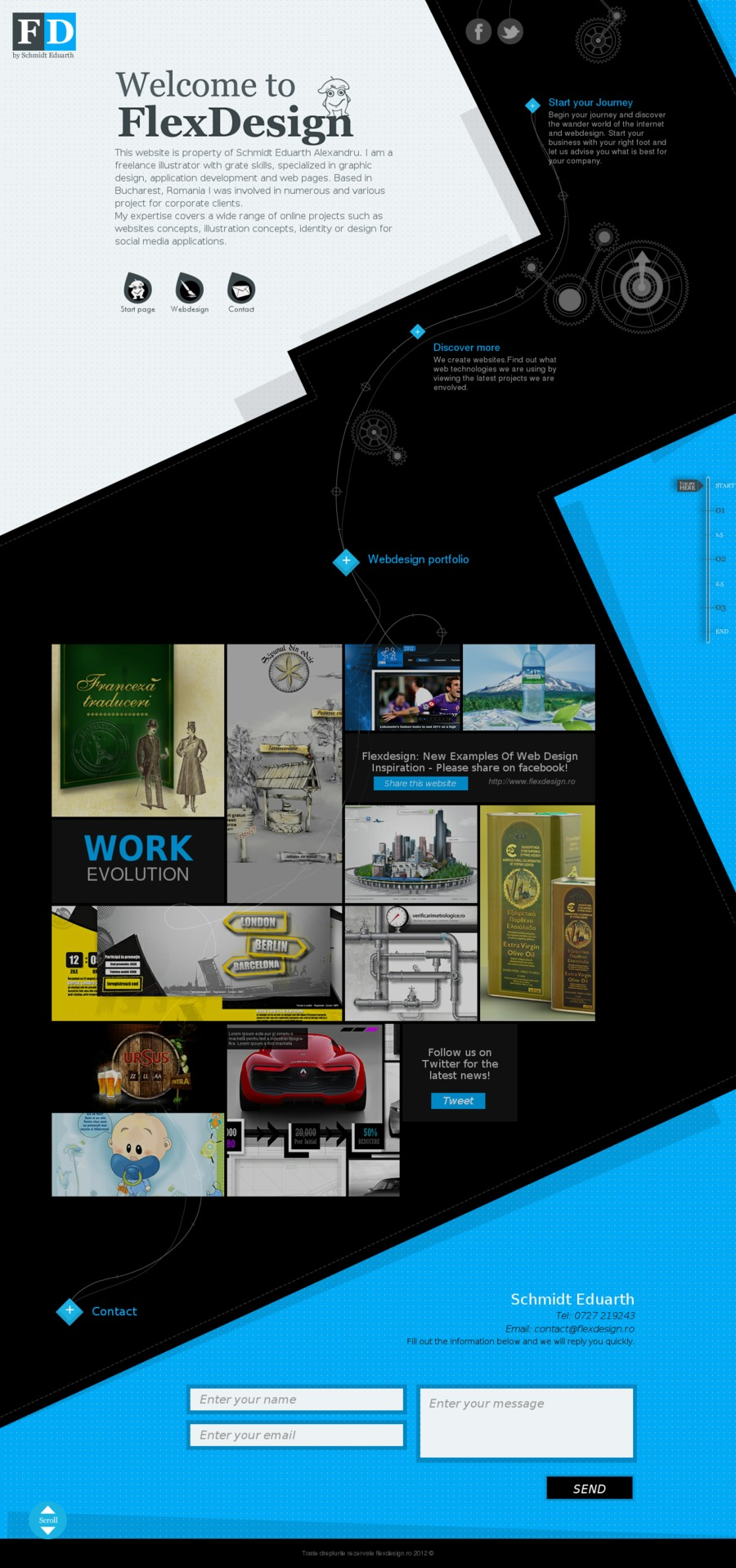 A great web design by Flex design, Bucharest, Romania: