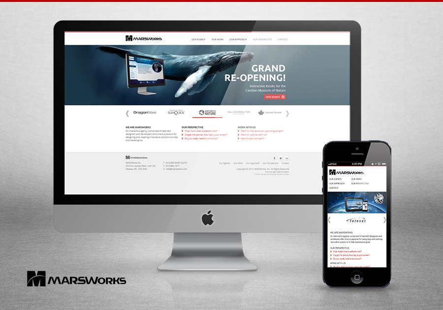 A great web design by MARSWorks Inc., Ottawa, Canada: Responsive Website, Marketing Website , Internet , Drupal