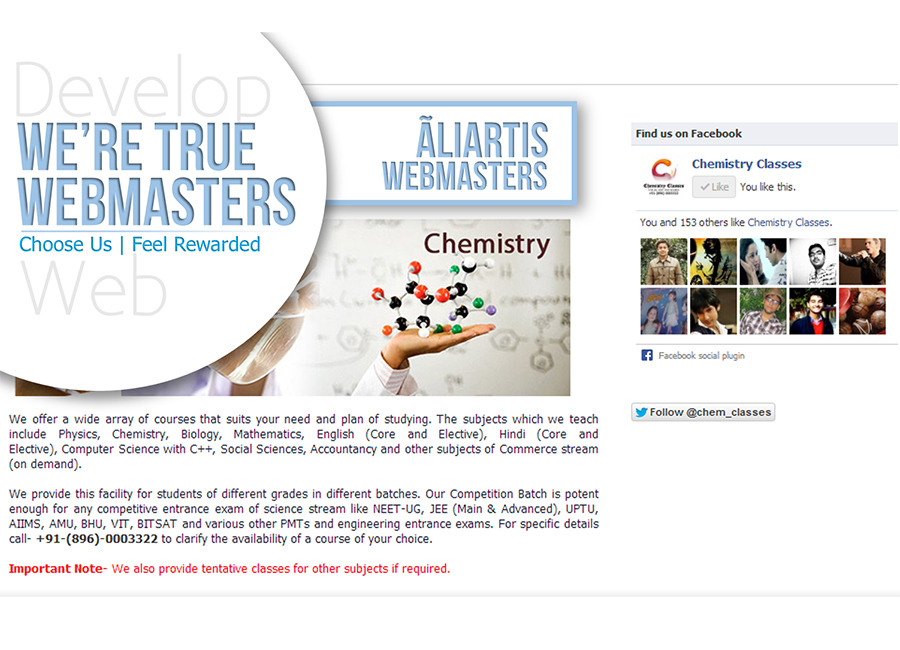 A great web design by Ãliartis Webmasters, Lucknow, India: Website, Publishing , Education , Wordpress