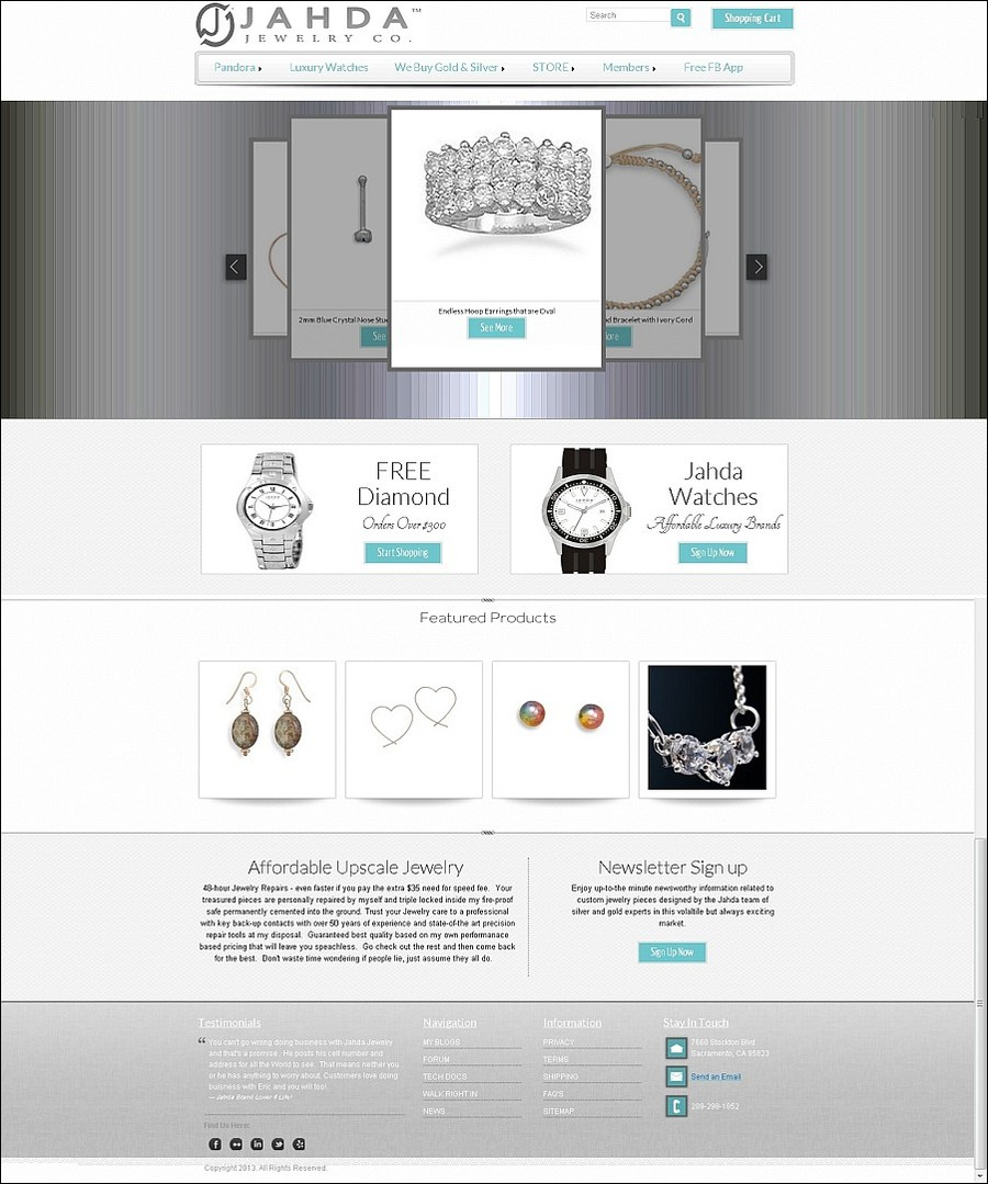 A great web design by c-ez1, Inc., Sacramento, CA: