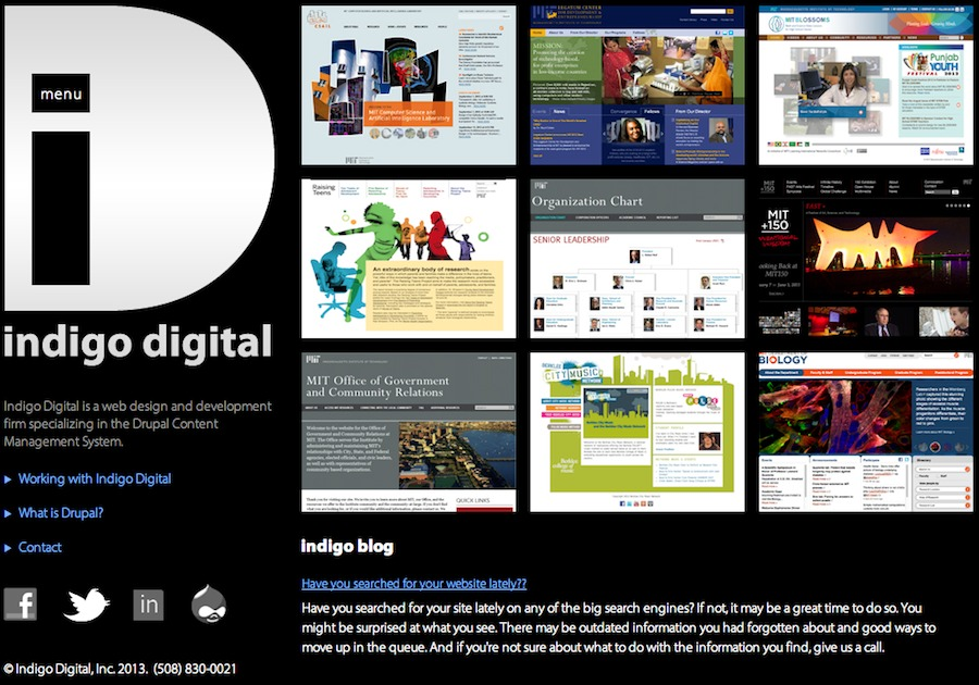 A great web design by Indigo Digital, Boston, MA: