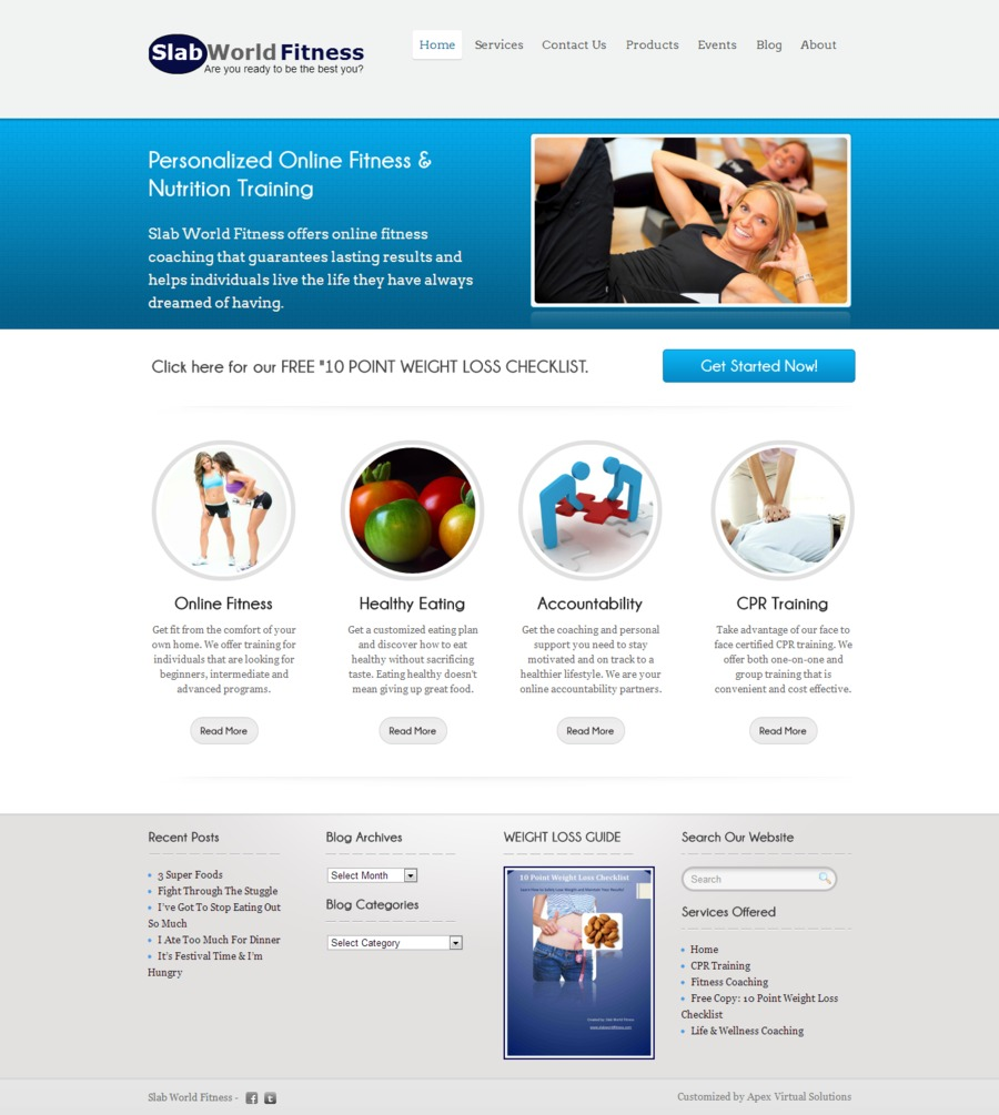 A great web design by Apex Virtual Solutions, Atlanta, GA:
