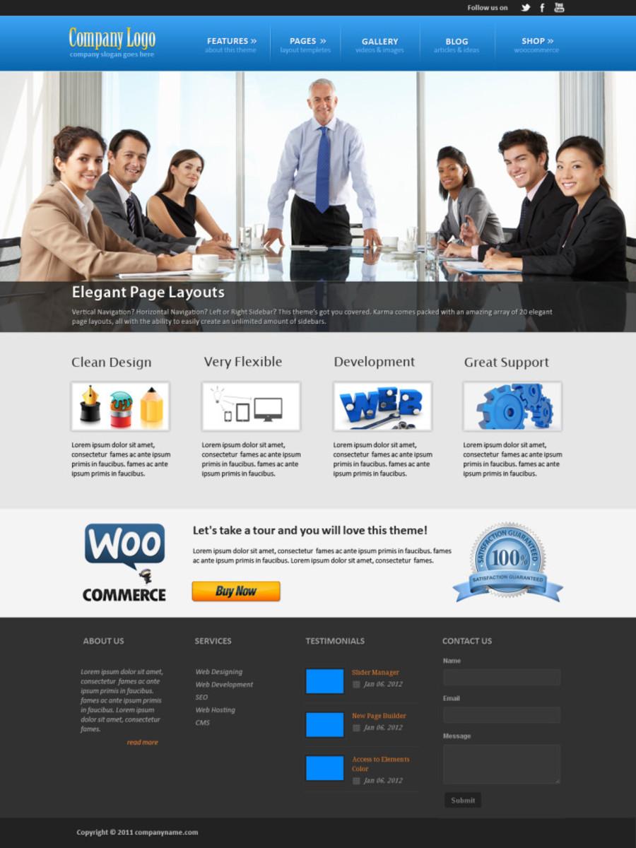 A great web design by CloudSharkLabs, Los Angeles, CA:
