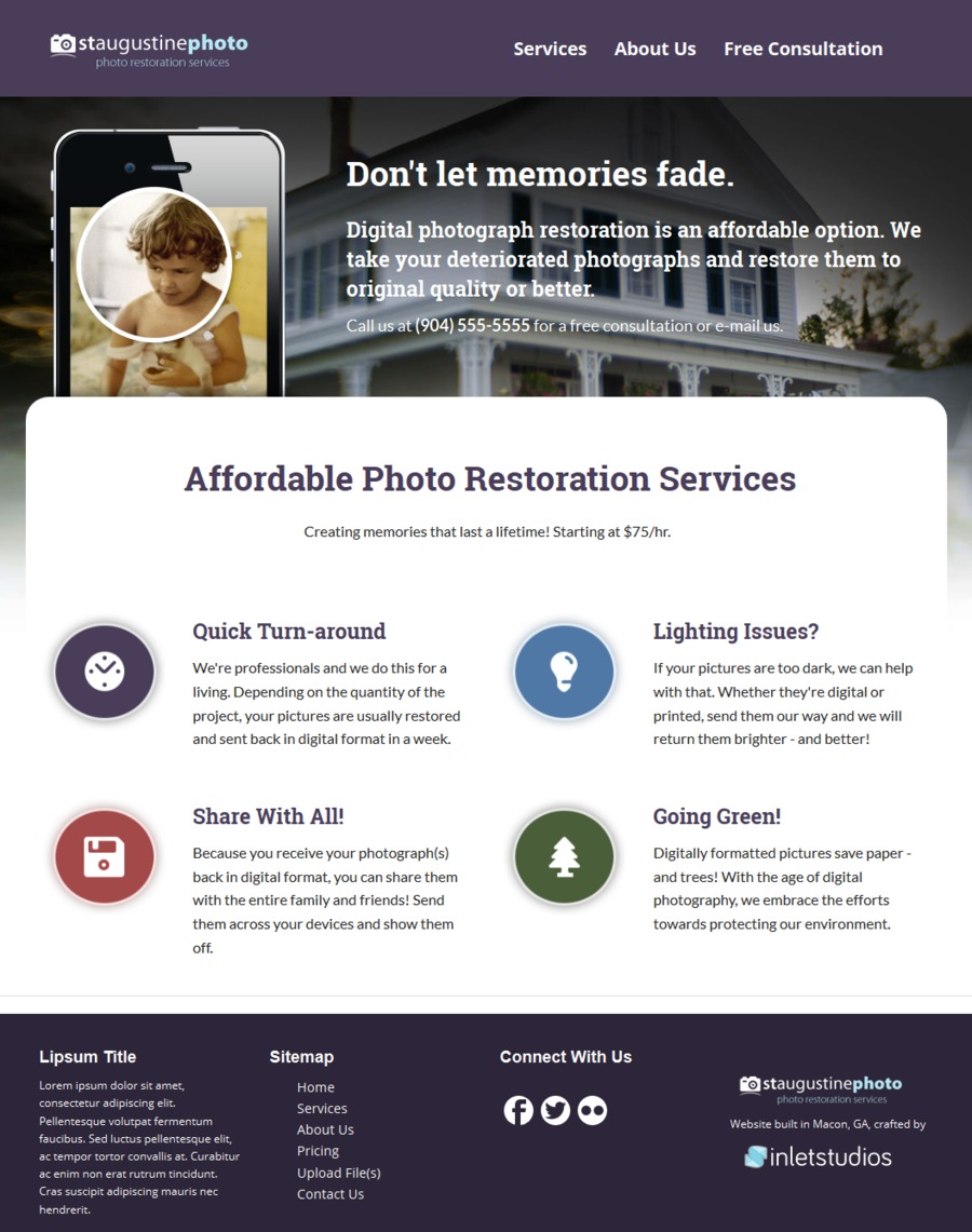 A great web design by Inlet Studios, Atlanta, GA: Responsive Website, Marketing Website , Other, PHP