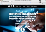 A great web design by Ron Pershing Design, Milwaukee, WI: