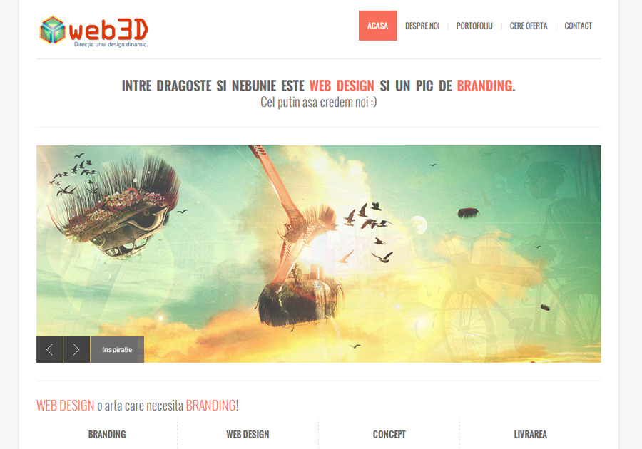 A great web design by Web3D, Tirgu Mures, Romania: