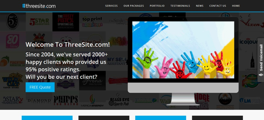 A great web design by ThreeSite.com, Ahmedabad, India: