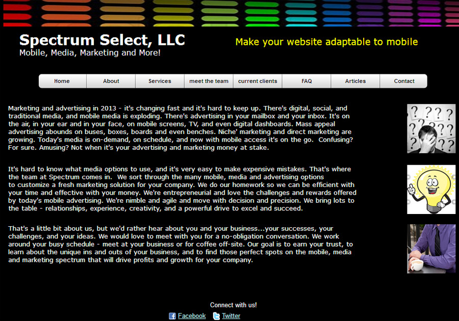 A great web design by Spectrum Select Media, Livonia, MI: