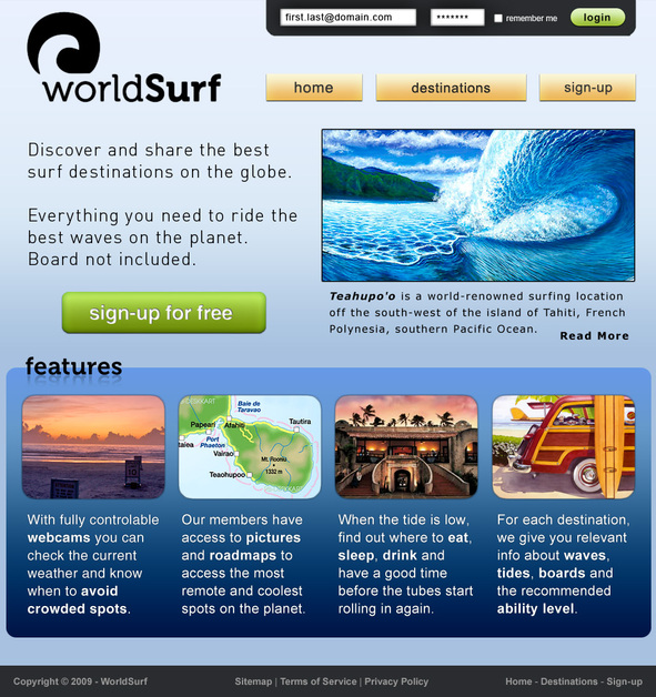A great web design by cleverCode, Orlando, FL: