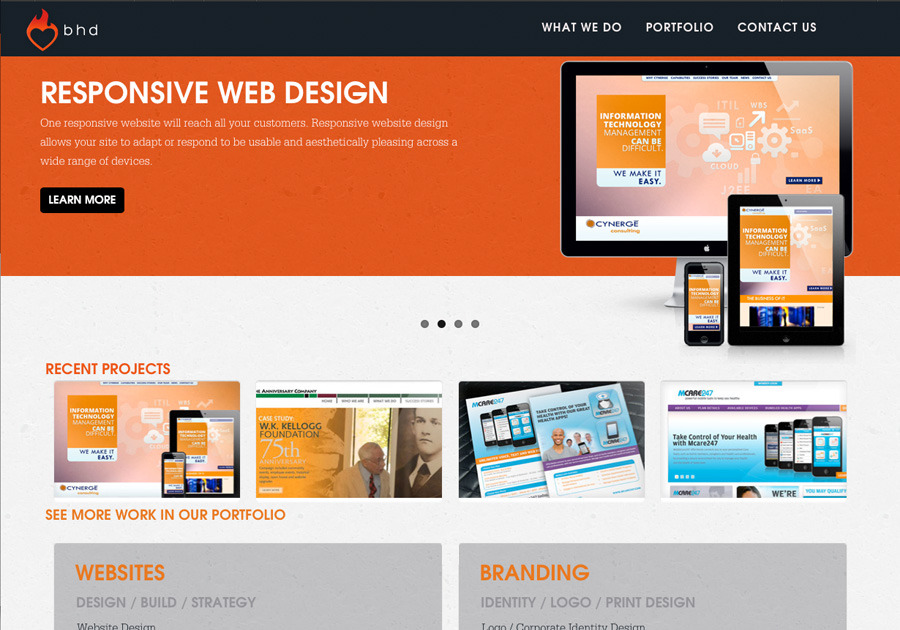 A great web design by BHD - Brian Harte Design, Detroit, MI: