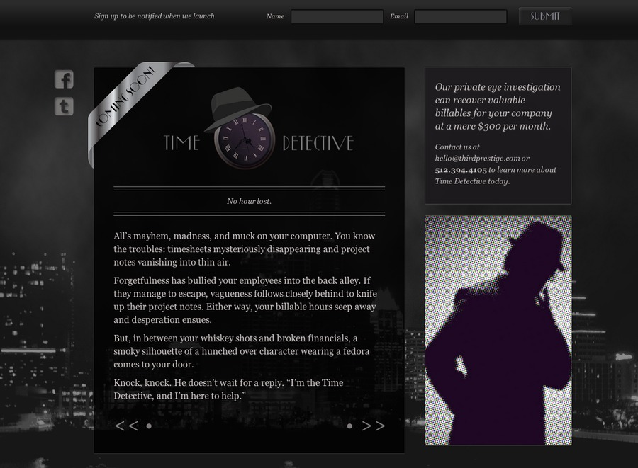 A great web design by Third Prestige, Austin, TX: