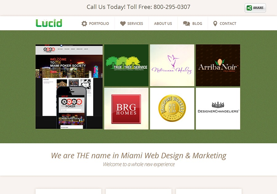 A great web design by Lucid Digital LLC, Miami, FL: