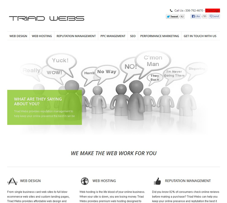 A great web design by Triad Webs, Burlington, NC: Responsive Website, Marketing Website , Internet , Static HTML