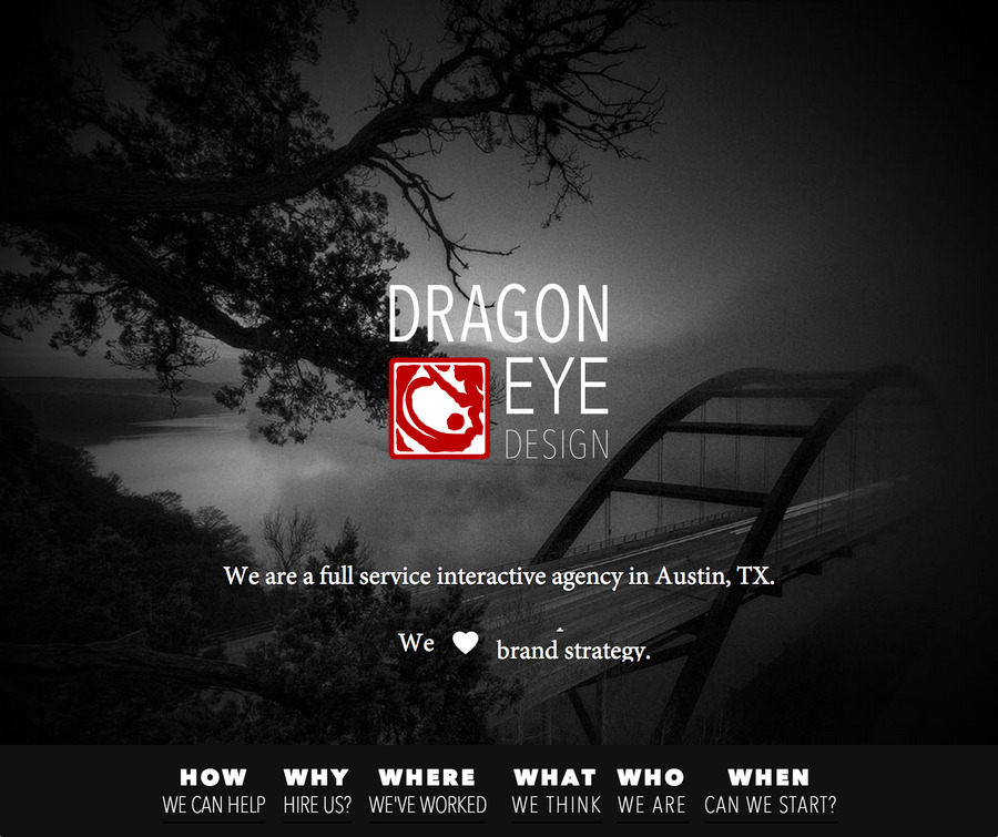 A great web design by Dragon Eye Design, Austin, TX: