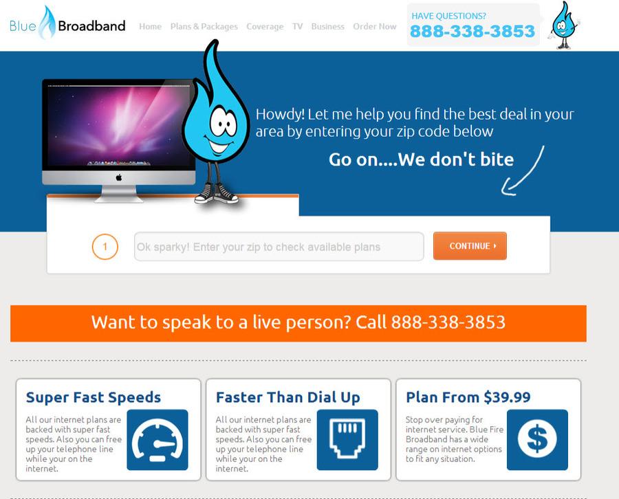 A great web design by Blue Fire Broadband, Atlanta, GA: