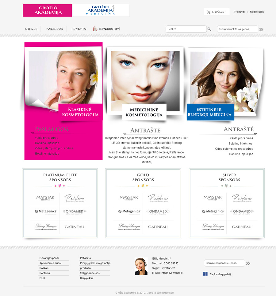 A great web design by Sertek Media, Vilnius, Lithuania: