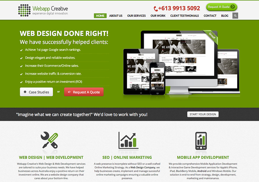 A great web design by Webapp Creative Pty Ltd, Melbourne, Australia: Website, Portfolio , Internet , PHP
