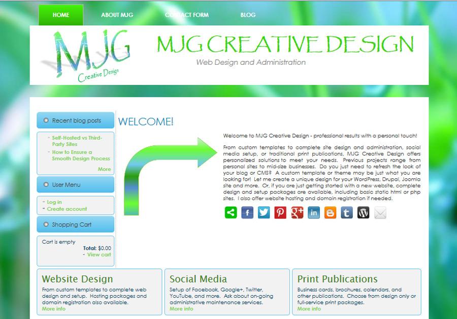 A great web design by MJG Creative Design, Johnston, RI: