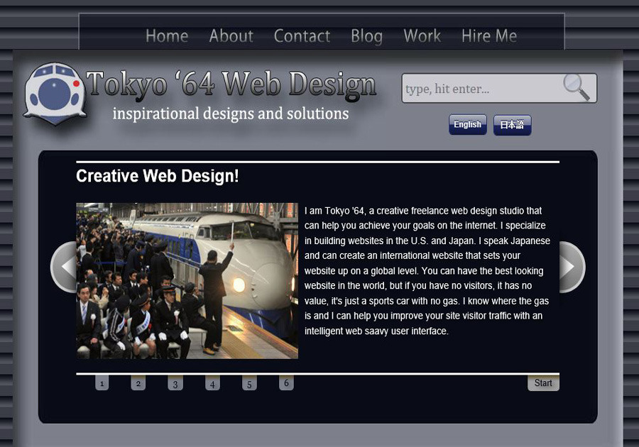 A great web design by Tokyo '64 Web Design, Seattle, WA: