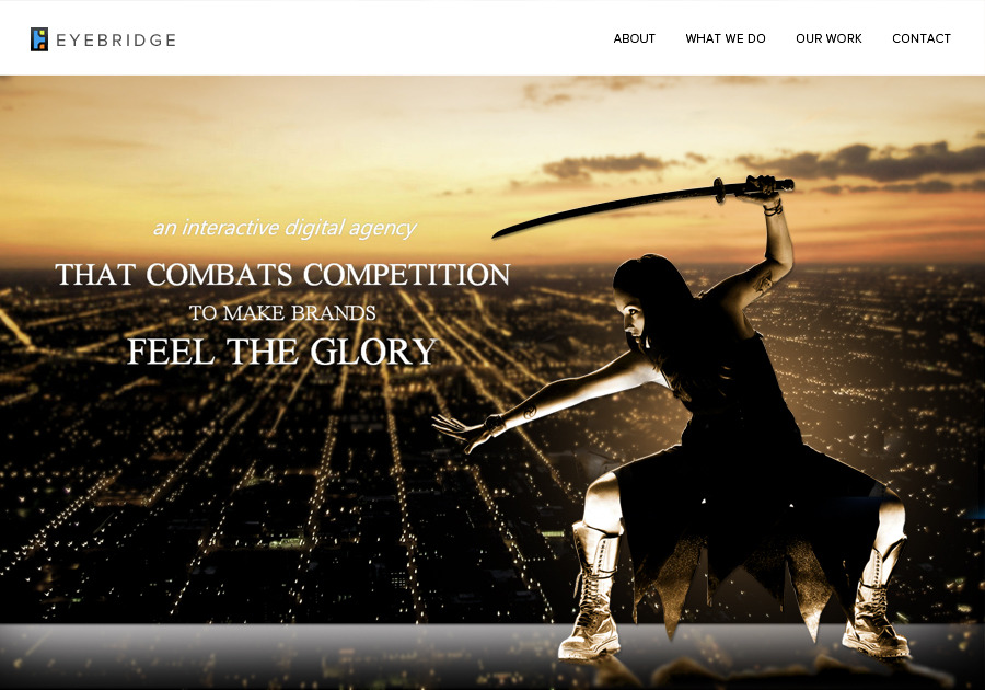 A great web design by Eyebridge, New York, NY: