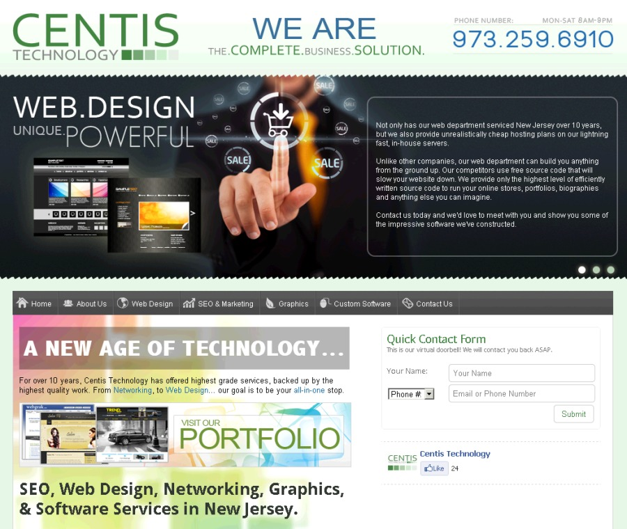 A great web design by Centis Technology, New York, NY: Website, Web Application , Technology , Static HTML