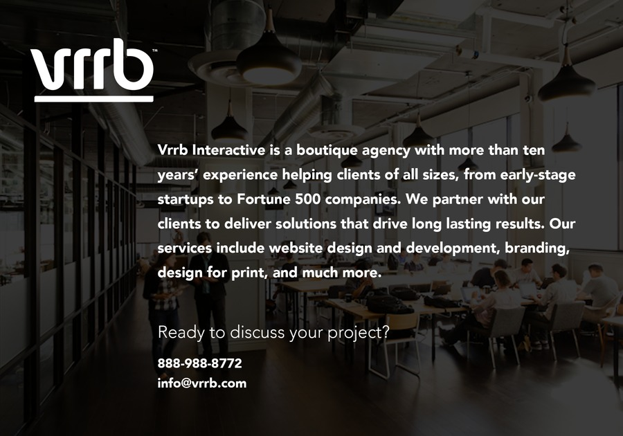 A great web design by Vrrb Interactive, Los Angeles, CA:
