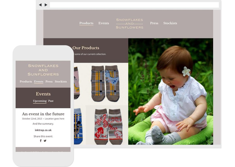 A great web design by Inktrap, London, United Kingdom: Responsive Website, Marketing Website , Fashion , Other