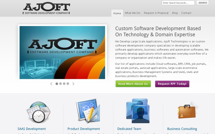 A great web design by Ajoft Technologies, Noida, India: