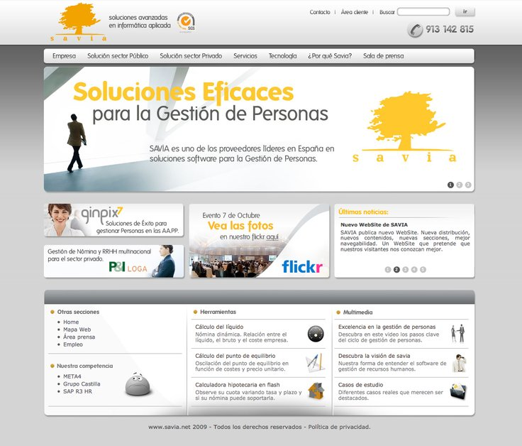 A great web design by Kybalion, Madrid, Spain: