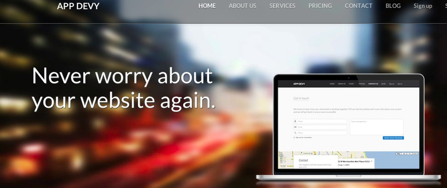 A great web design by AppDevy, Chicago, IL: