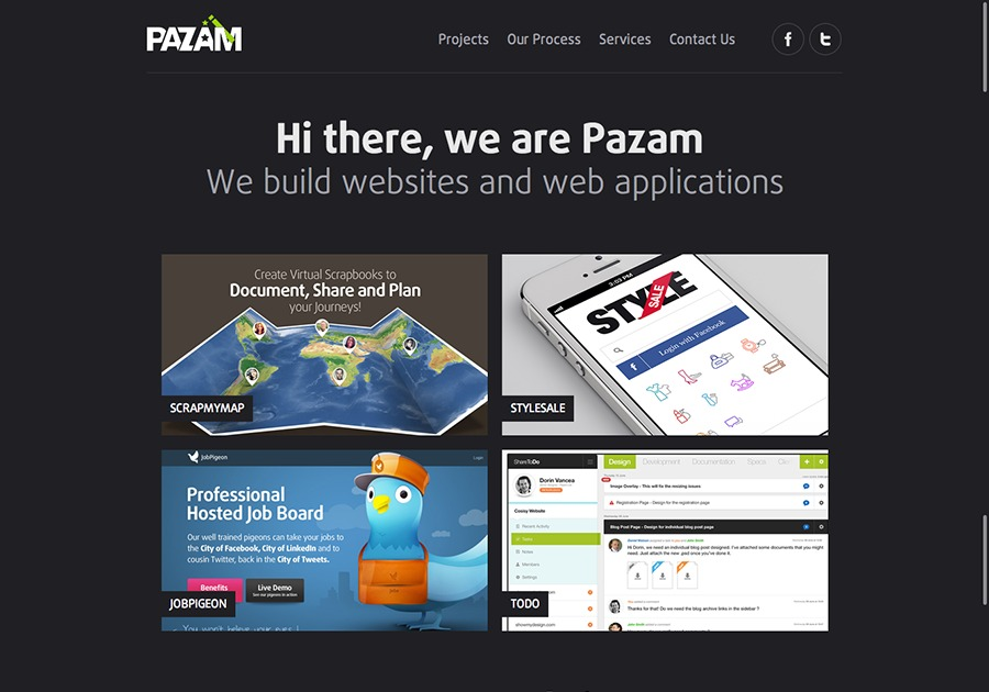 A great web design by Pazam, London, United Kingdom: