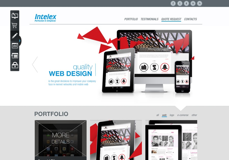 A great web design by Intelex, Toronto, Canada:
