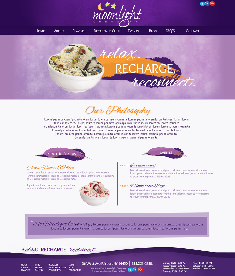 A great web design by Sharp Notions, LLC, Rochester, NY: