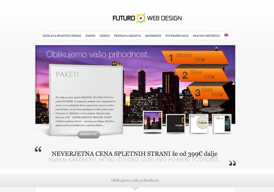 A great web design by FUTURO WEB DESIGN, Bled, Slovenia: