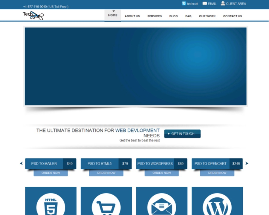A great web design by Techcutt, Virginia Beach, VA: