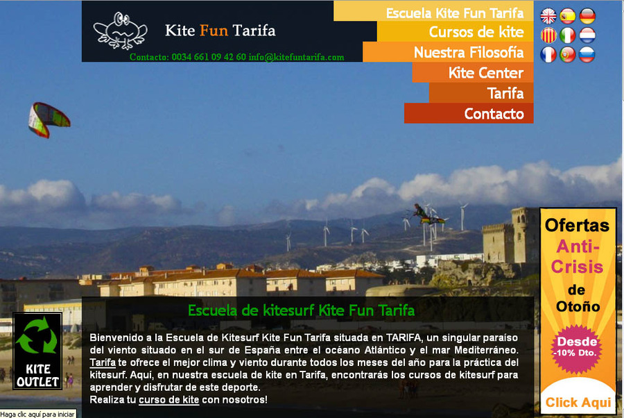 A great web design by Kite Fun Tarifa, Malaga, Spain: