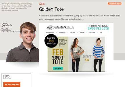 A great web design by Endertech: Website, E-Commerce , Fashion , Magento