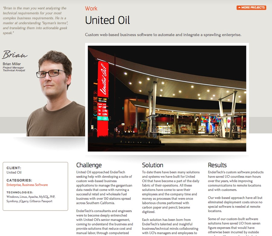 A great web design by Endertech, Los Angeles, CA: Website, Web Application , Energy , PHP