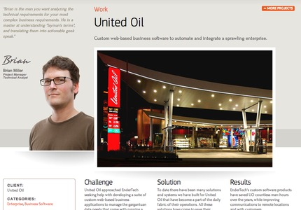 A great web design by Endertech: Website, Web Application , Energy , PHP