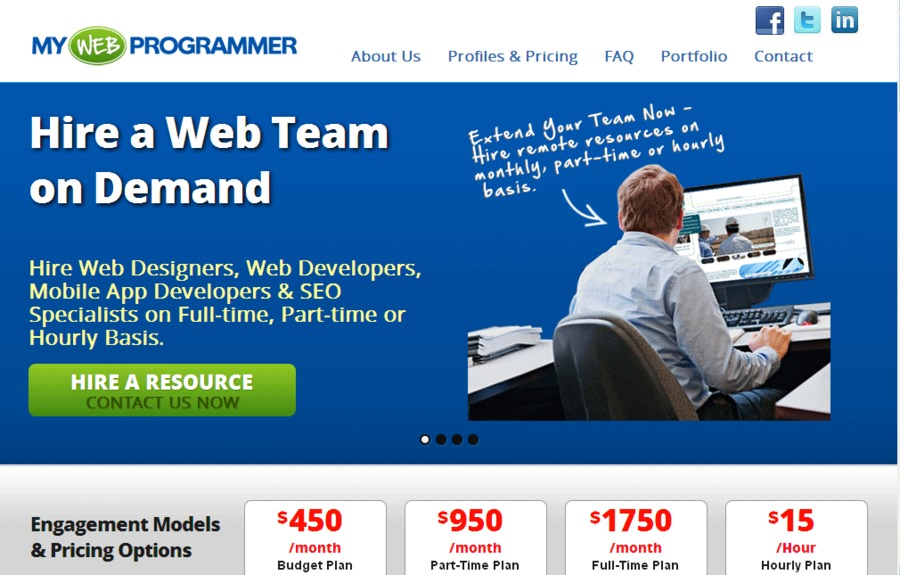 A great web design by Hire Web Developer, Karachi, Pakistan: