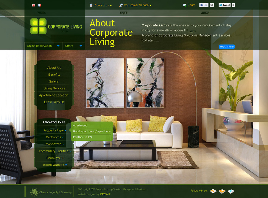 A great web design by WEBSYS, Kolkata, India: