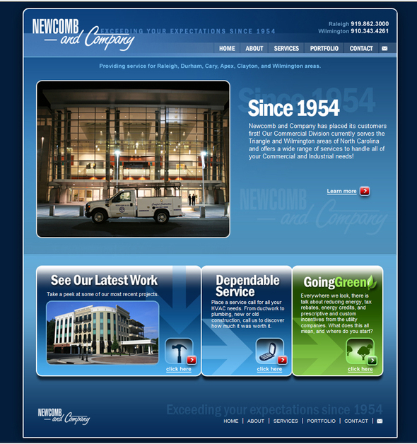 A great web design by BizCom Web Services, Inc., Raleigh, NC:
