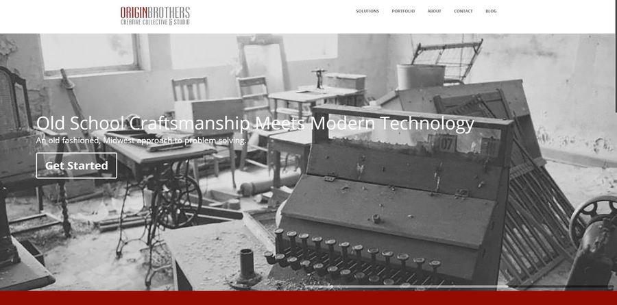 A great web design by Origin Brothers, Ames, IA: