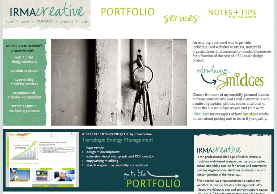A great web design by irmacreative, San Francisco, CA: