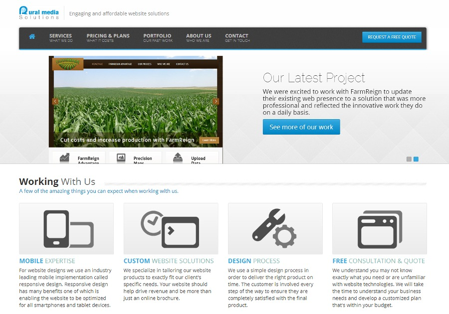 A great web design by Rural Media Solutions, Denver, CO: