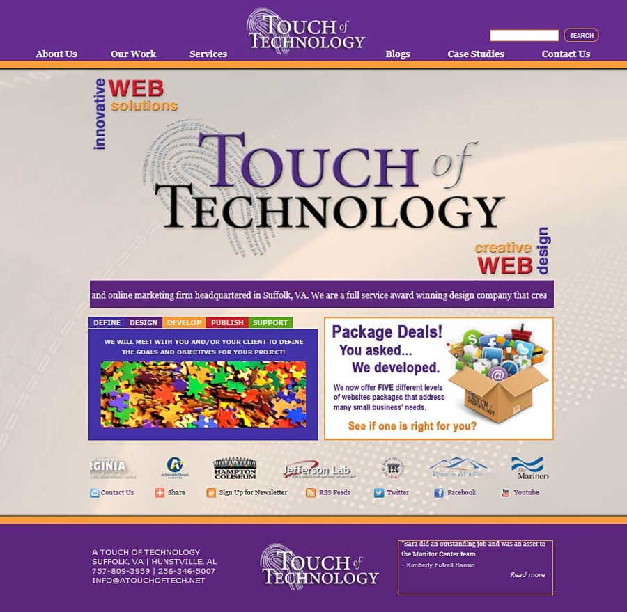 A great web design by A Touch of Technology, Washington DC, DC: